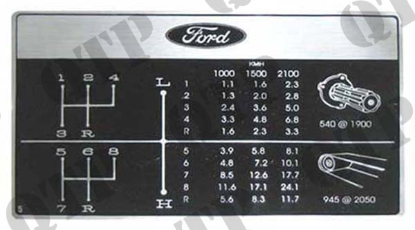 Decal Ford S Gears P