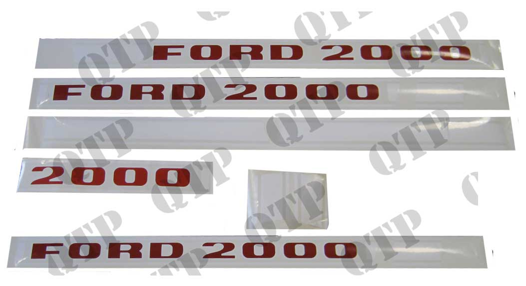 Ford 2000 Tractor Decals : Decal kit ford