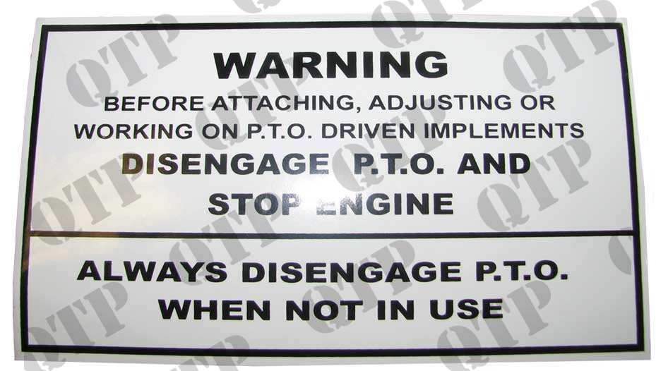 Tractor Pto Warning Decals : Decal main pto warning type