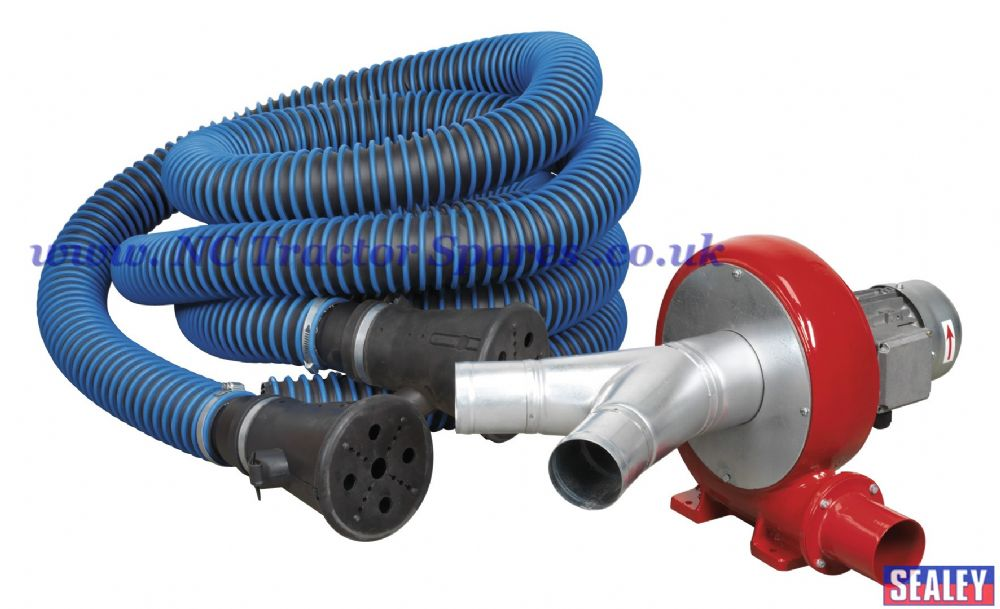 Exhaust Fume Extraction System 230v 370w Twin Duct