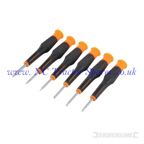 precision screwdriver set phillips slotted 6pce 105mm silverline. Black Bedroom Furniture Sets. Home Design Ideas
