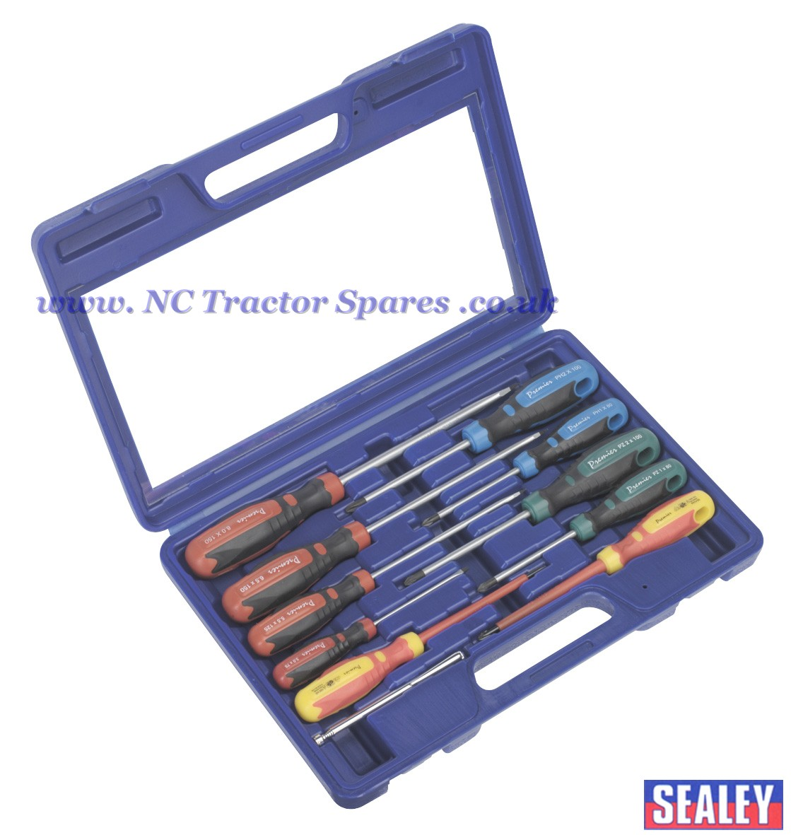 screwdriver set with carry case 11pc gripmax. Black Bedroom Furniture Sets. Home Design Ideas