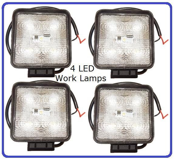 *Pack Of 4* Square LED Work Flood Lamps