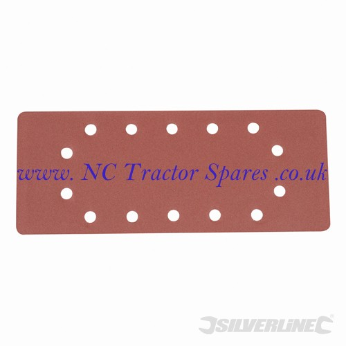 1/2 Sanding Sheets Punched 10pk 240 Grit (Silverline)