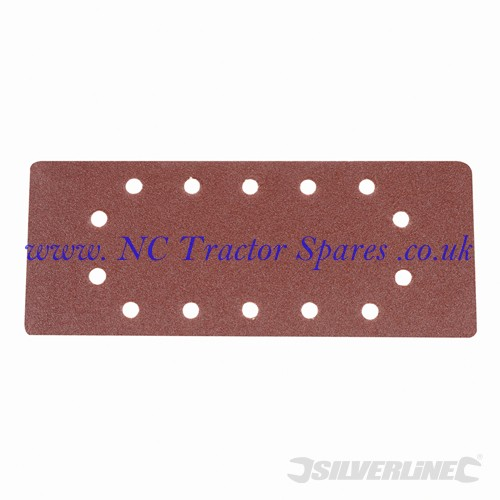 1/2 Sanding Sheets Punched 10pk. 80 Grit (Silverline)