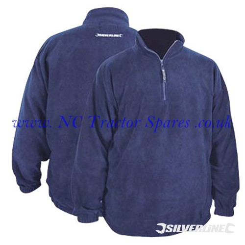 "1/4 Zip Fleece Top L 112cm (44"") (Silverline)"