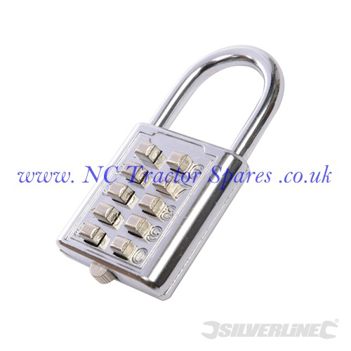 10 Digit Combination Padlock 38mm (Silverline)