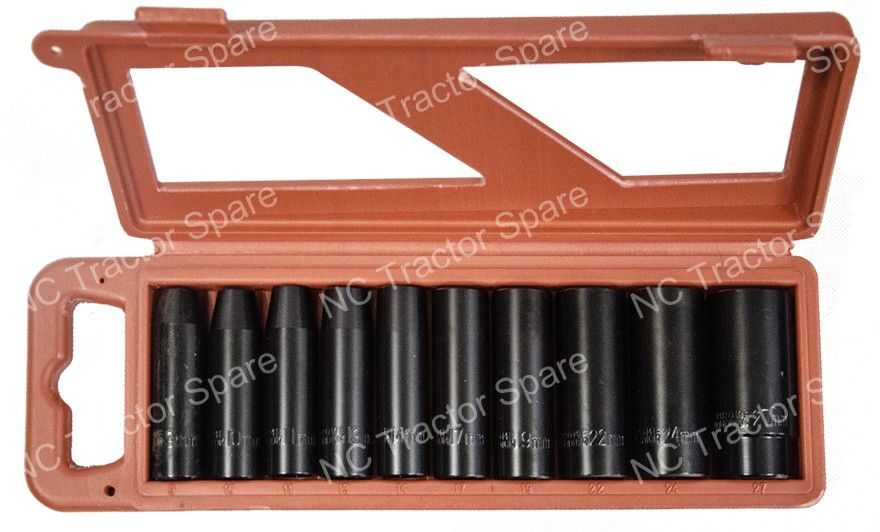 "10 Piece 1/2"" Deep Impact Socket Set"