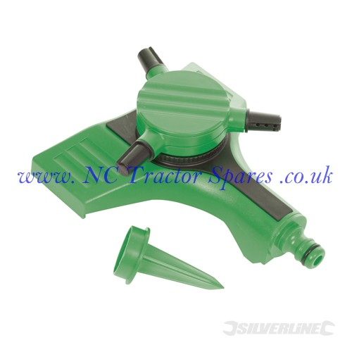 "3-Arm Sprinkler 1/2"" Male (Silverline)"