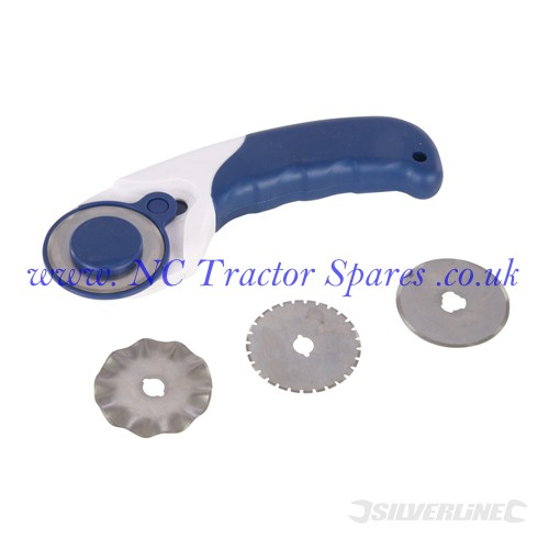 3-in-1 Rotary Cutter 45mm dia Blades (Silverline)