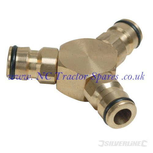 "3-Way Connector Brass 1/2"" Male (Silverline)"