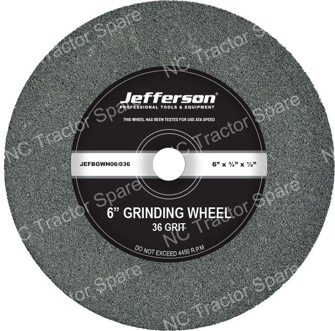 "6"" Bench Grinder Wheel 36 Grit"