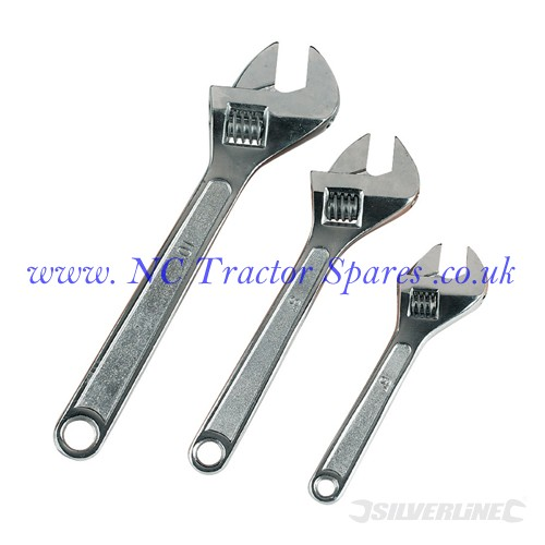 Adjustable Wrench Set 3pce 150, 200 & 250mm (Silverline)