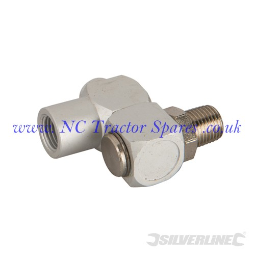 "Air Line Swivel Connector 6mm (1/4"") BSP (Silverline)"
