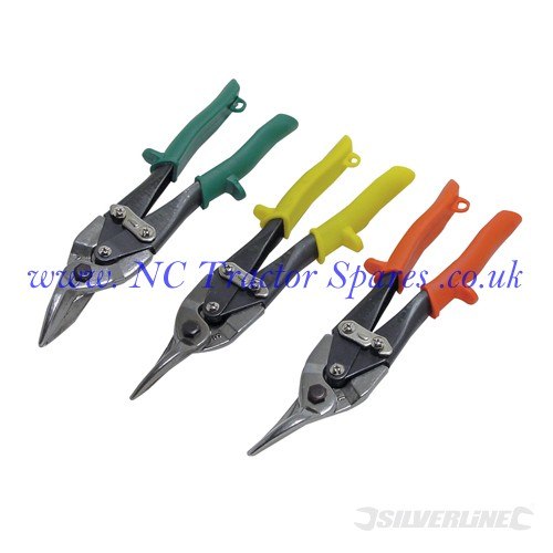 Aviation Tin Snips Set 3pce 250mm (Silverline)