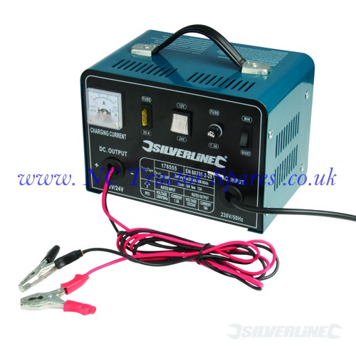 Battery Charger 12/24V 18A/12A 12V at 18A / 24V at 12A (Silverline)