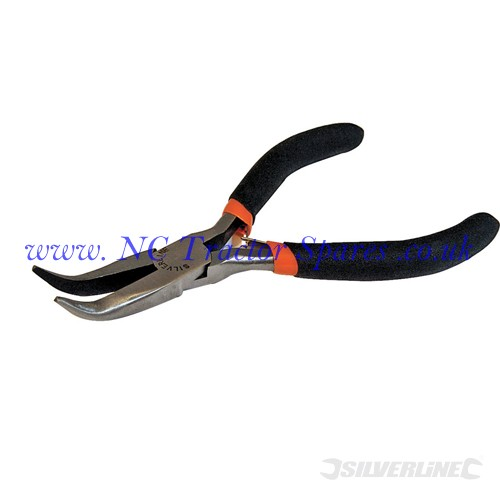Bent Long Nose Electronics Pliers 125mm (Silverline)