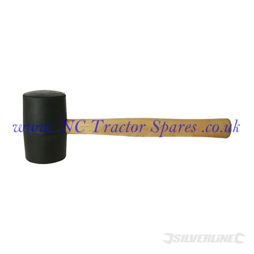 Black Rubber Mallet 24oz (Silverline)