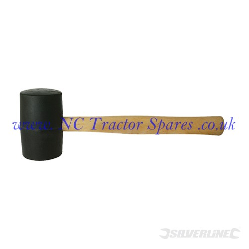 Black Rubber Mallet. 16oz (Silverline)