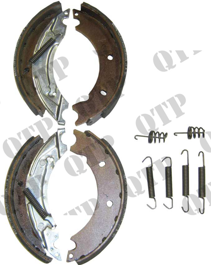 "Brake Shoe 203 x 40R 2 Pairs  8"" x 1.5"" Wide"