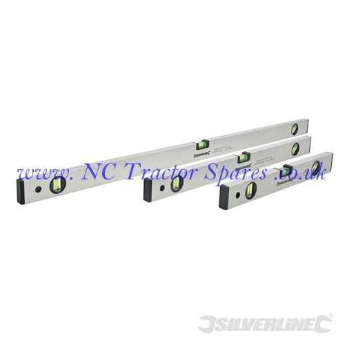Builders Level Set 3pce 400, 600 & 1000mm (Silverline)