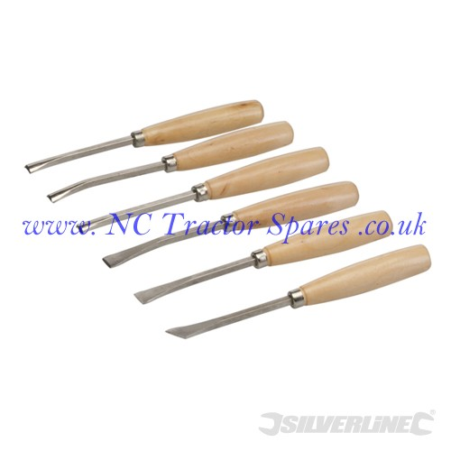 Carving Chisels Set 6pce 6pce (Silverline)