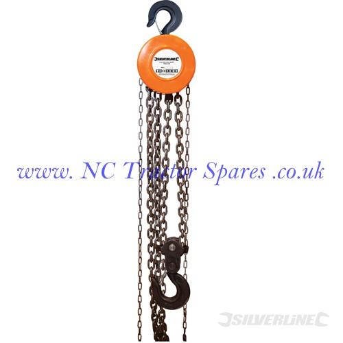 Chain Block, 5 Tonne / 3m Lift Height (Silverline)