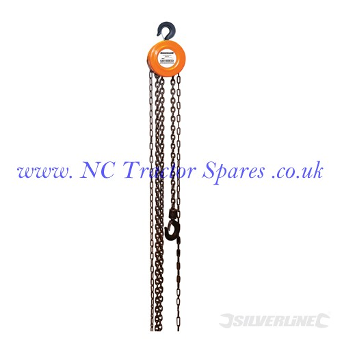 Chain Block. 1 Tonne / 2.5m Lift Height (Silverline)