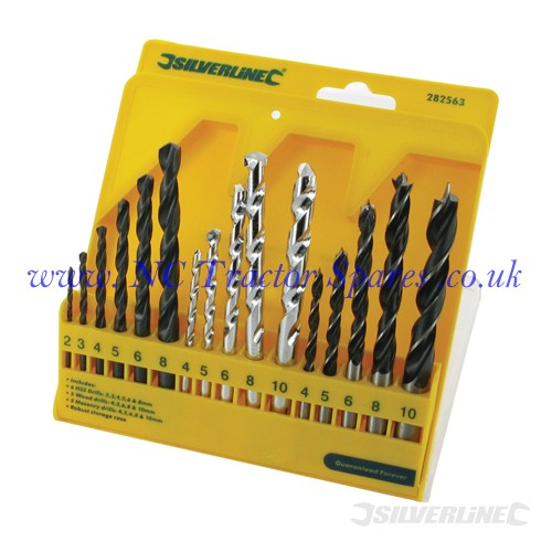 Combi Drill Bit Set 16pce 4 - 10mm (Silverline)