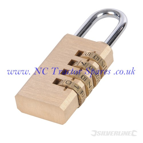 Combination Padlock Brass. 4-digit (Silverline)