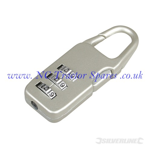 Combination Padlock Zinc Alloy 3-Digit (Silverline)