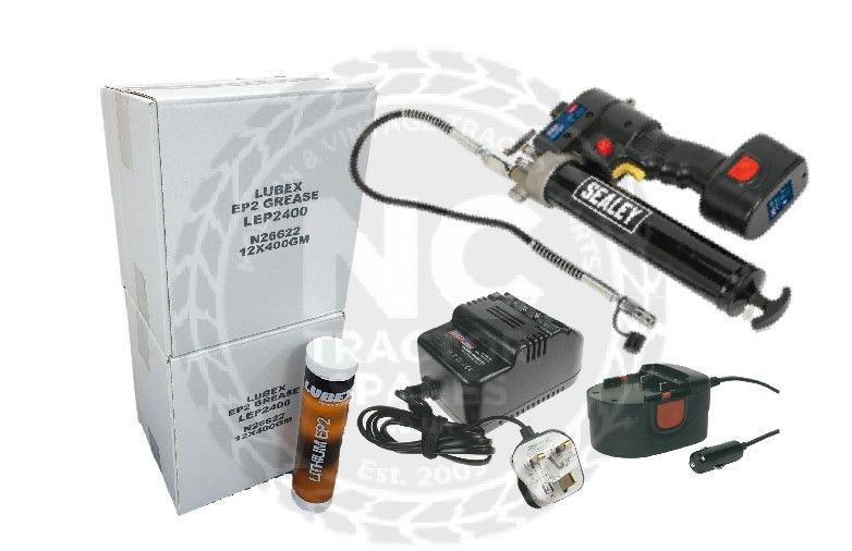 Cordless Grease Gun & 24X 400G Grease OFFER