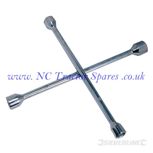 Cross Wrench 17, 19, 21 & 23mm (Silverline)