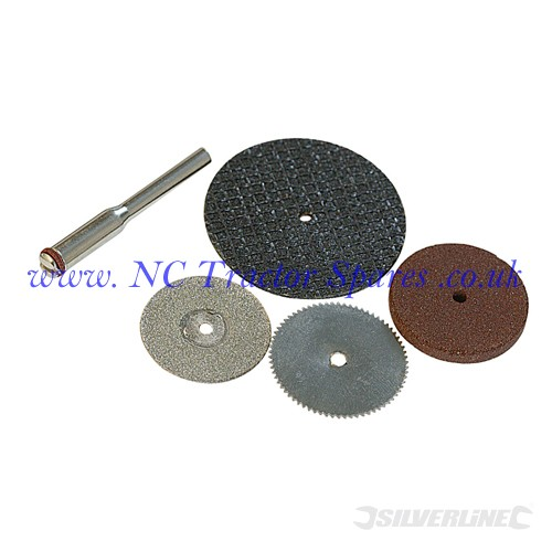 Cutting Disc Kit 5pce 3.1mm dia Mandrel (Silverline)