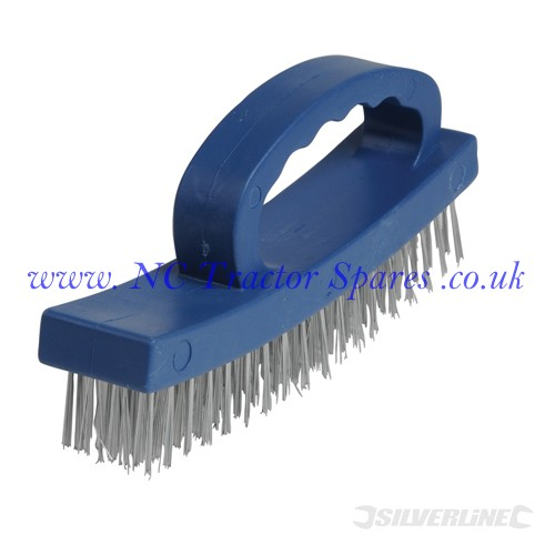 D-Handle Wire Brush 4 Row (Silverline)