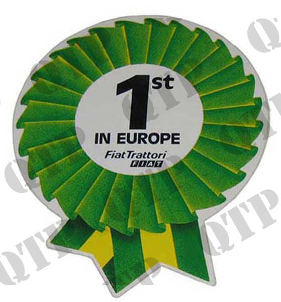 "Decal Fiat ""1st in Europe"