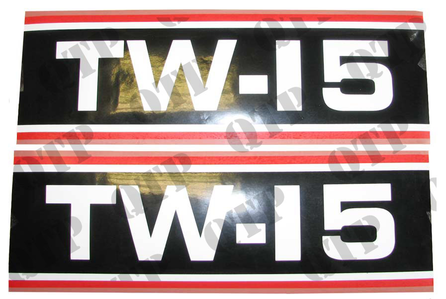 Decal Ford TW15 Super Q Cab Black & White x 2