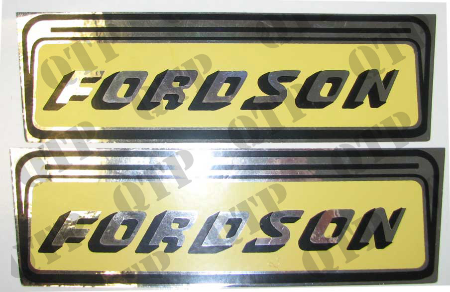 Decal Fordson Yellow and Silver