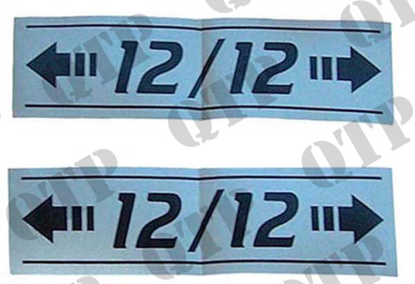 Decal X2 <-12/12-> Pair