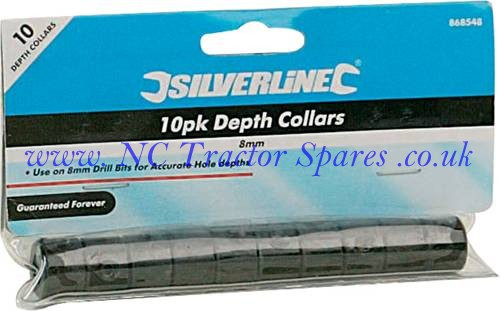 Depth Collars 10pk 8mm (Silverline)