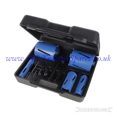 Diamond Core Drill Kit 5pce 38 - 127mm (Silverline)