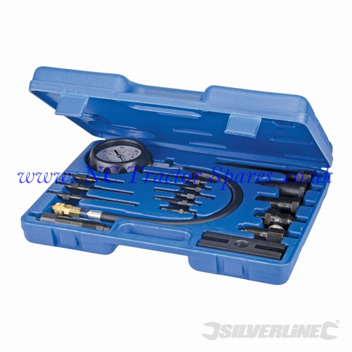 Diesel Engine Compression Testing Kit 16pce 16pce (Silverline)