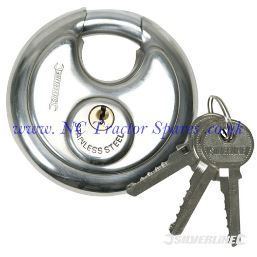 Disc Padlock 70mm (Silverline)
