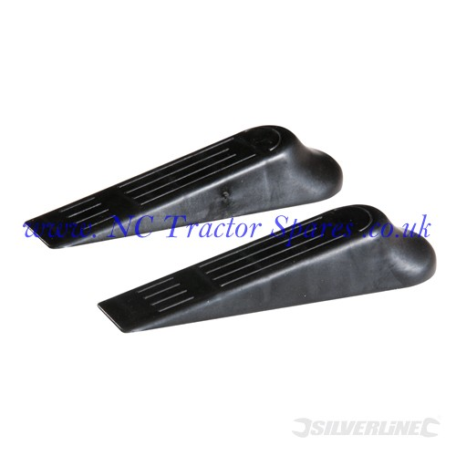 Door Wedges 2pk 120mm (Silverline)