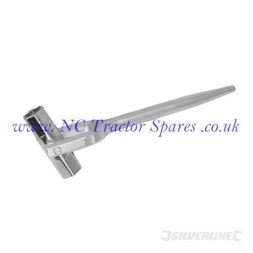 "Double-Ended Scaffold Spanner 7/16"" & 1/2"" (Silverline)."