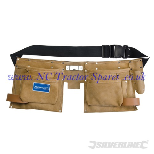 Double Pouch Tool Belt 8 Pocket 300 x 200mm (Silverline)