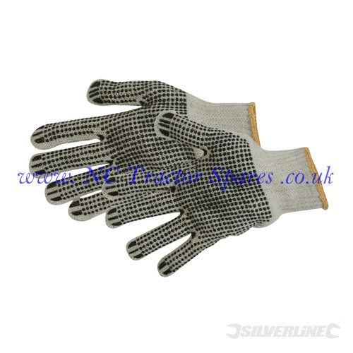 Double-Sided Dot Gloves One Size (Silverline)