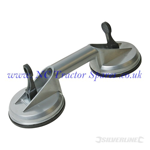 Double Suction Pad Expert Quality Aluminium 100kg (Silverline)