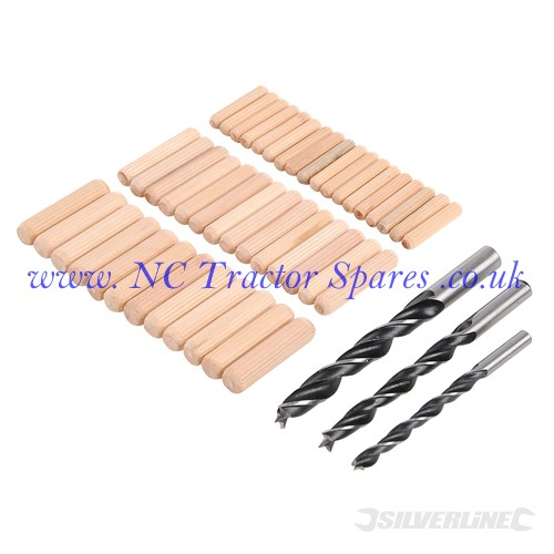 Dowel & Bit Set 47pce 6, 8 & 10mm (Silverline)