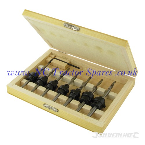 Drill & Countersink Set 7pce 3.2 - 5.5mm (Silverline)